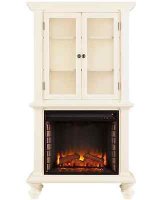 1500W Cabinet Antique White Townsend home Garden Heater Electric ...