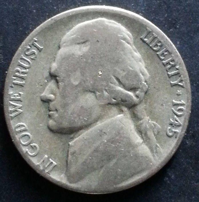 1945 S U S Silver World War 2 Jefferson Nickel Historic Old