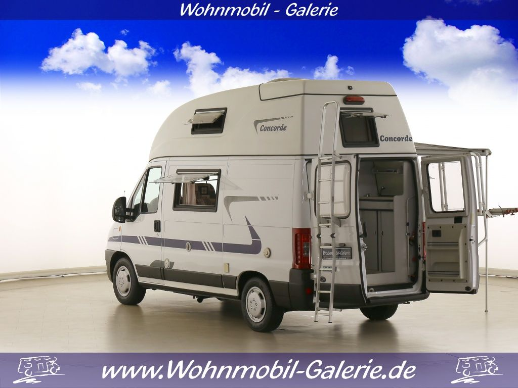 concorde compact tl klimaanlage 5 18m lang kastenwagen wohnmobil gebraucht kaufen. Black Bedroom Furniture Sets. Home Design Ideas