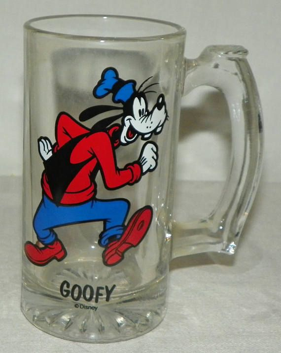 Walt Handle Mug Shoes Red Vintage Glass Disney Blue Shirt Goofy With htsCdQr