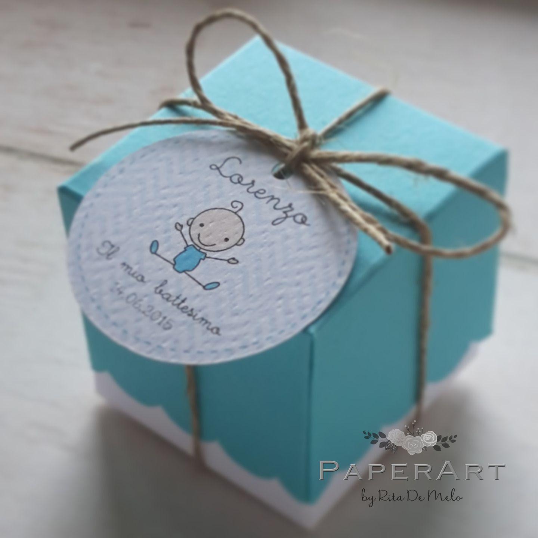 Très 10 composizione porta confetti (scatolina + bigliettino + spago  YS49