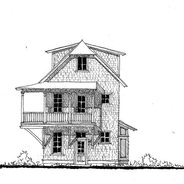 allison ramsey architects   floorplan for holiday cottage - 1543