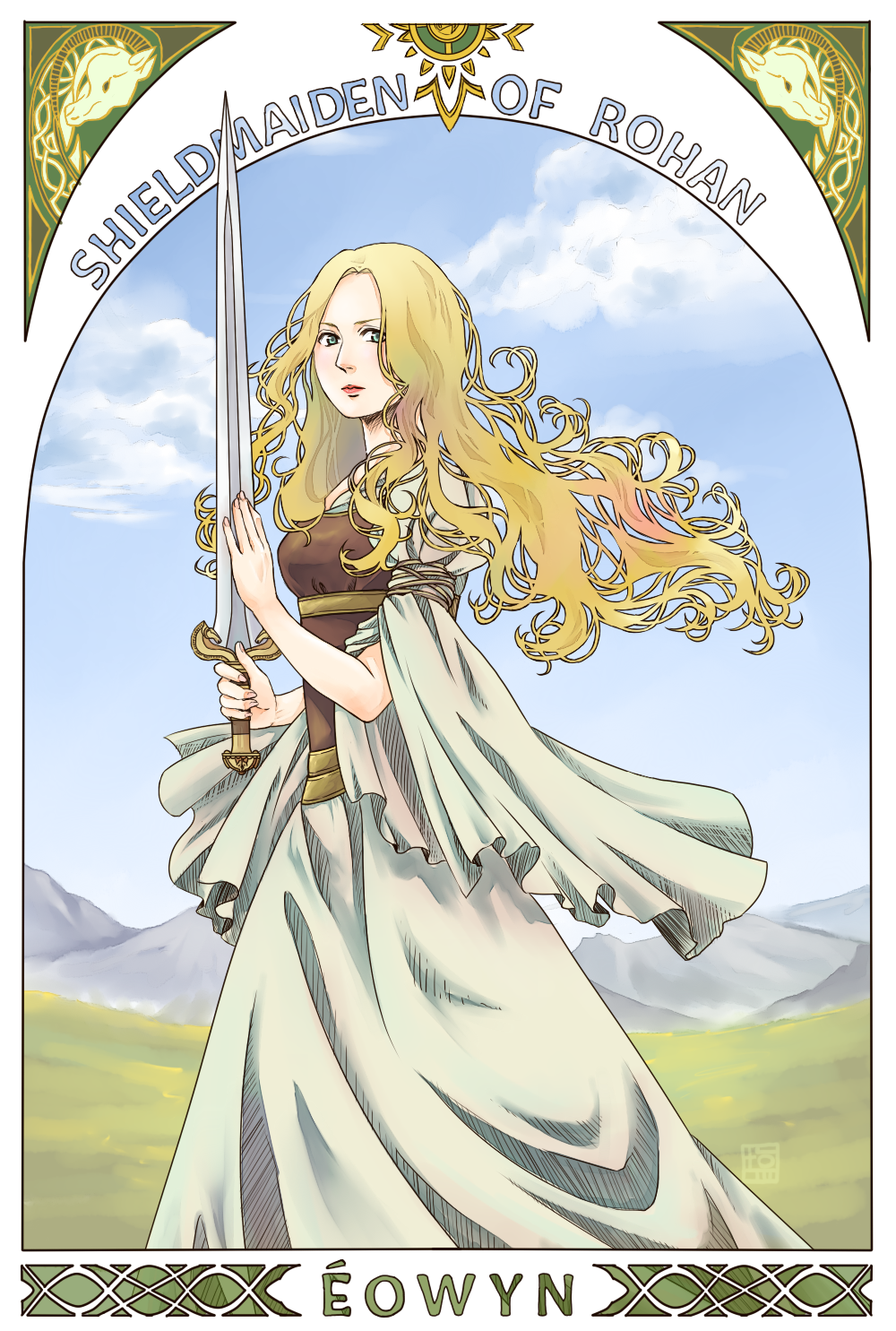 White Lady By 2NaCldeviantart On DeviantART Great Art Nouveau Style Love Her Gown And Hair Shes Also A Straight Up BAMF So