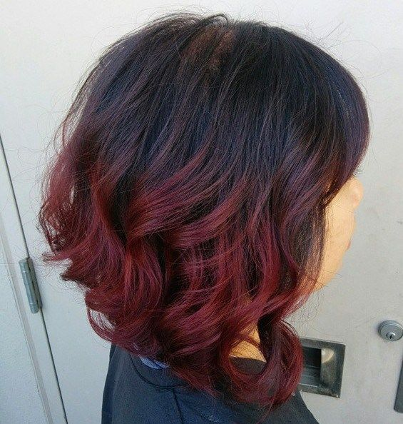 60 Best Ombre Hair Color Ideas For Blond Brown Red And Black Hair Orange Ombre Hair Red Ombre Hair Short Ombre Hair
