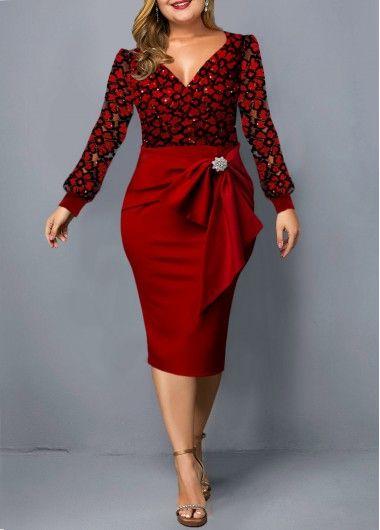 Photo of Button Detail High Waist Plus Size Dress | Rotita.com – USD $33.73