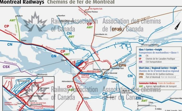 Montreal, Quebec - Railway Map - 2012 - Railway ociation of ... on