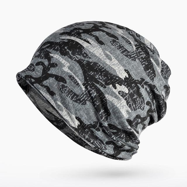 Camouflage Wraps Hats Men Ourdoor Sport Cycling Skullies Women Spring  Summer Fall Hiphop Punk Rock Beanie Hats 179971206da