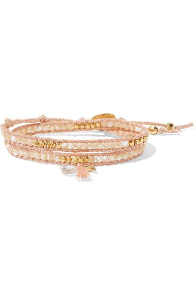 Gold-plated Crystal Anklet - one size Chan Luu LHr8B