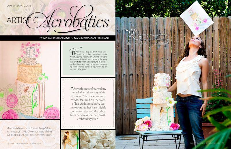Magazine editorial layout Cake Central Media Corp.: Amanda Hill Creative