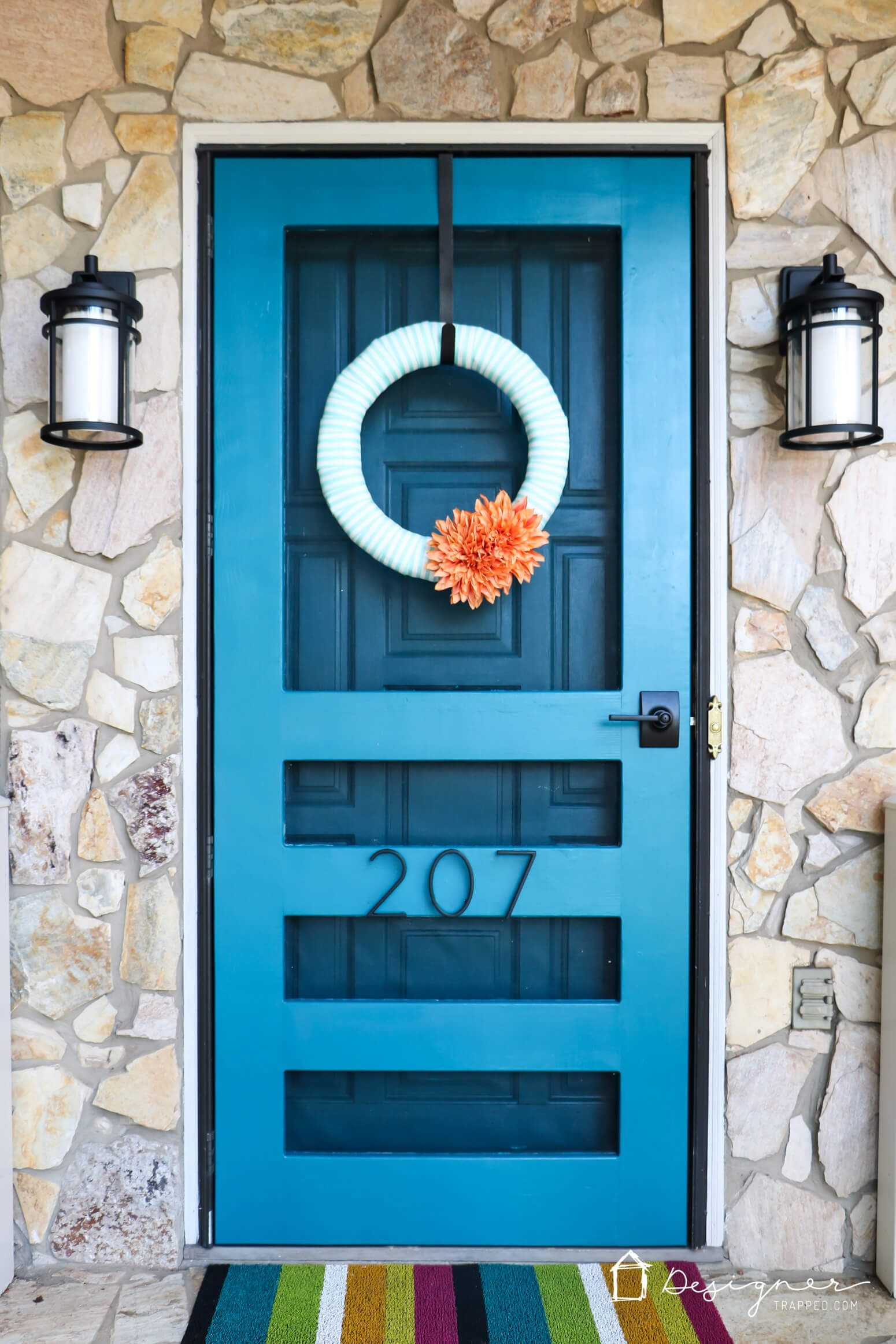An easy but dramatic front door update designertrapped