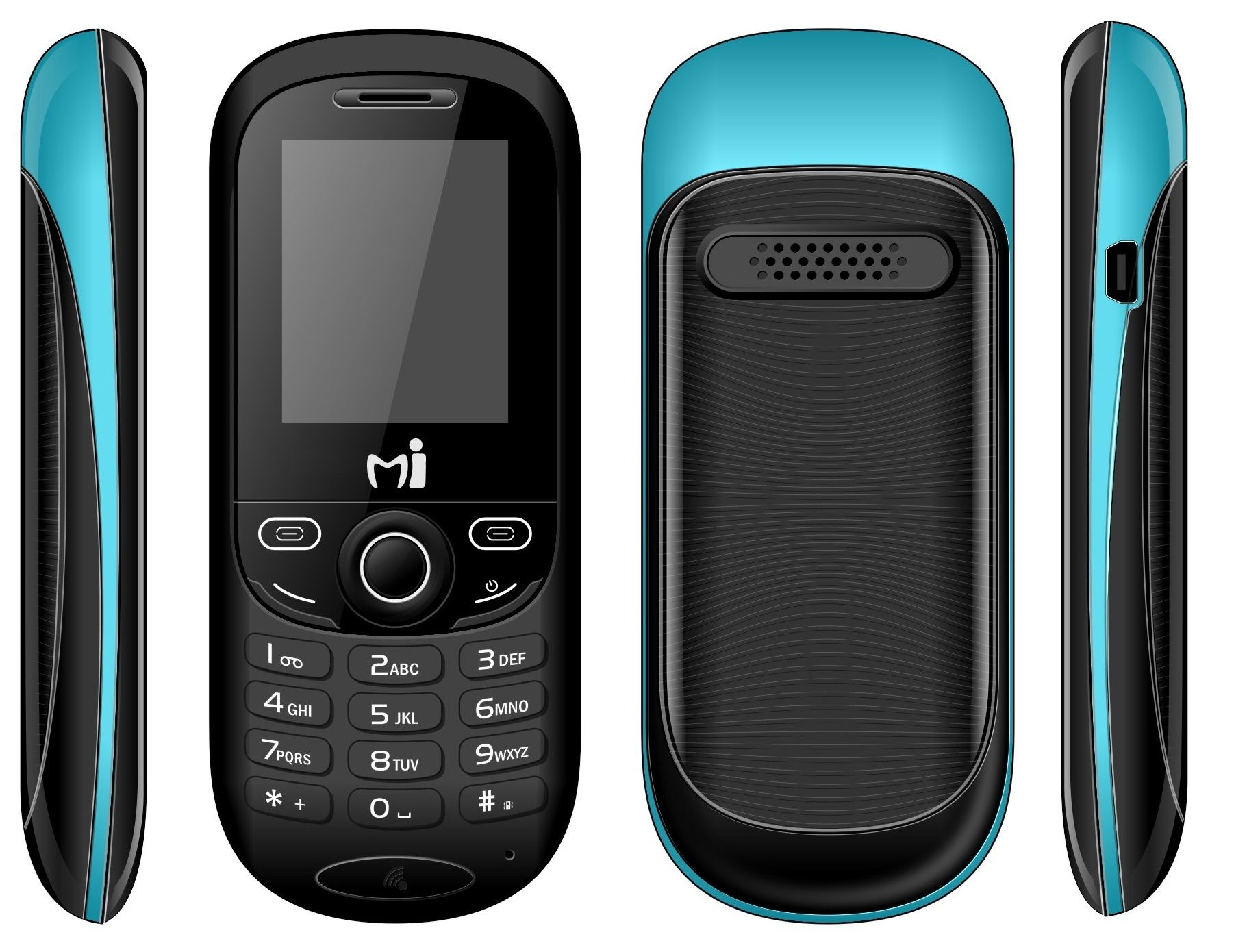 Mi209 low cost feature phone dual sim torch fm radio