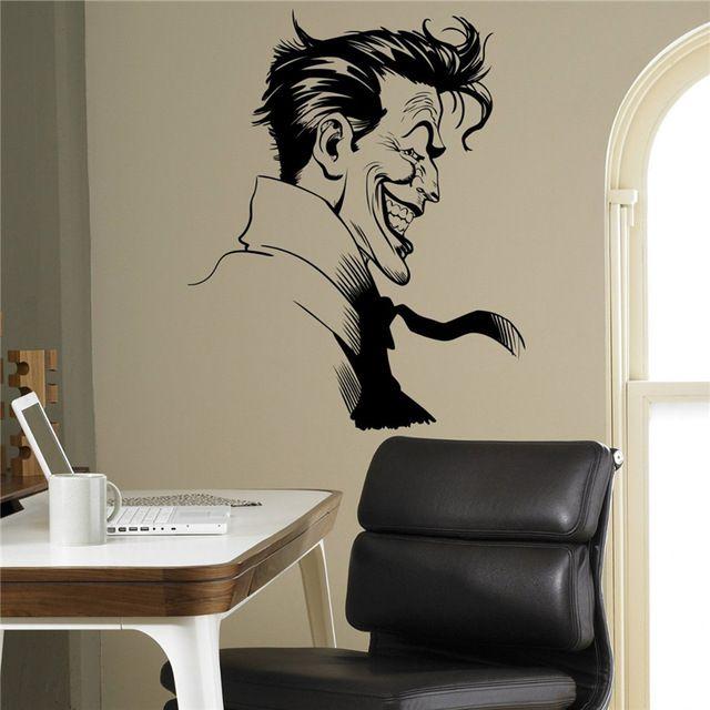 Joker Supervillain Wall Vinyl Decal Batman Sticker Superhero Home - Wall decals kids roombestkids room wall decals ideas on pinterest batman room