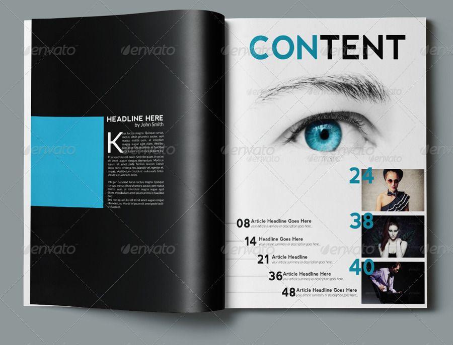 Multipurpose Magazine Template Photoshop Psd Magazine Template Photoshop Photoshop Magazine