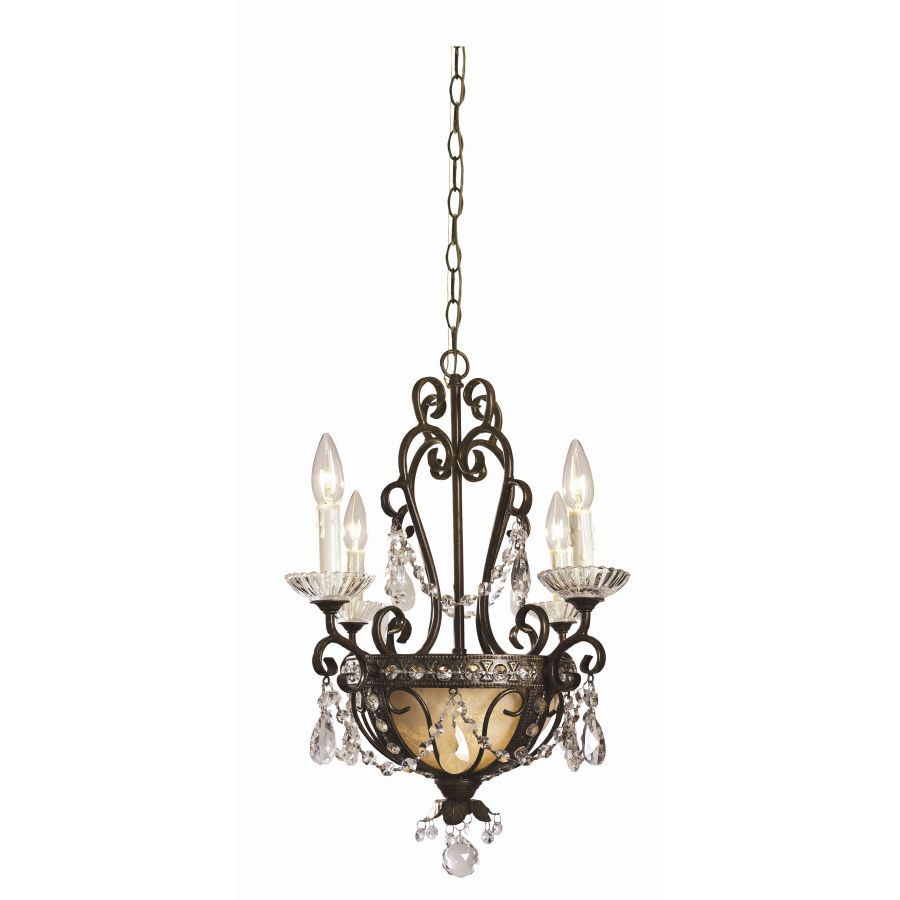 Shop portfolio 6 light chandelier at lowes beauty pinterest shop portfolio 175 in 6 antique bronze vintage hardwired marbleized glass candle at lowes arubaitofo Images