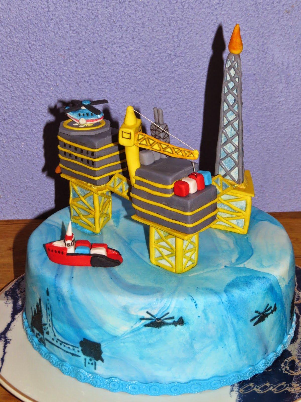 Oil Rig Cake Cakes In 2019 Cake 70th Birthday Cake
