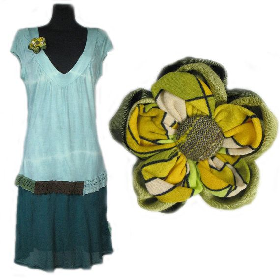 Summer Handdyed Dress and Gift  by AleksandraSemeniuk on Etsy, $27.00