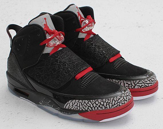 Nike Air Jordan Womens Son of Mars Black Varsity Red Cement Size 7