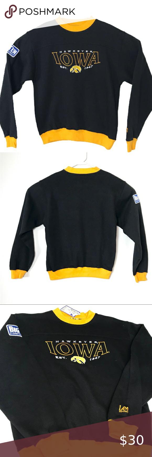 Vtg Iowa Hawkeyes Sweatshirt Lee Sport Nwt Sz L Vintage Nwt Iowa Hawkeyes Sweatshirt Size Large Lee Sport Black An Sweatshirts Iowa Hawkeyes Sweatshirt Shirt [ 1740 x 580 Pixel ]