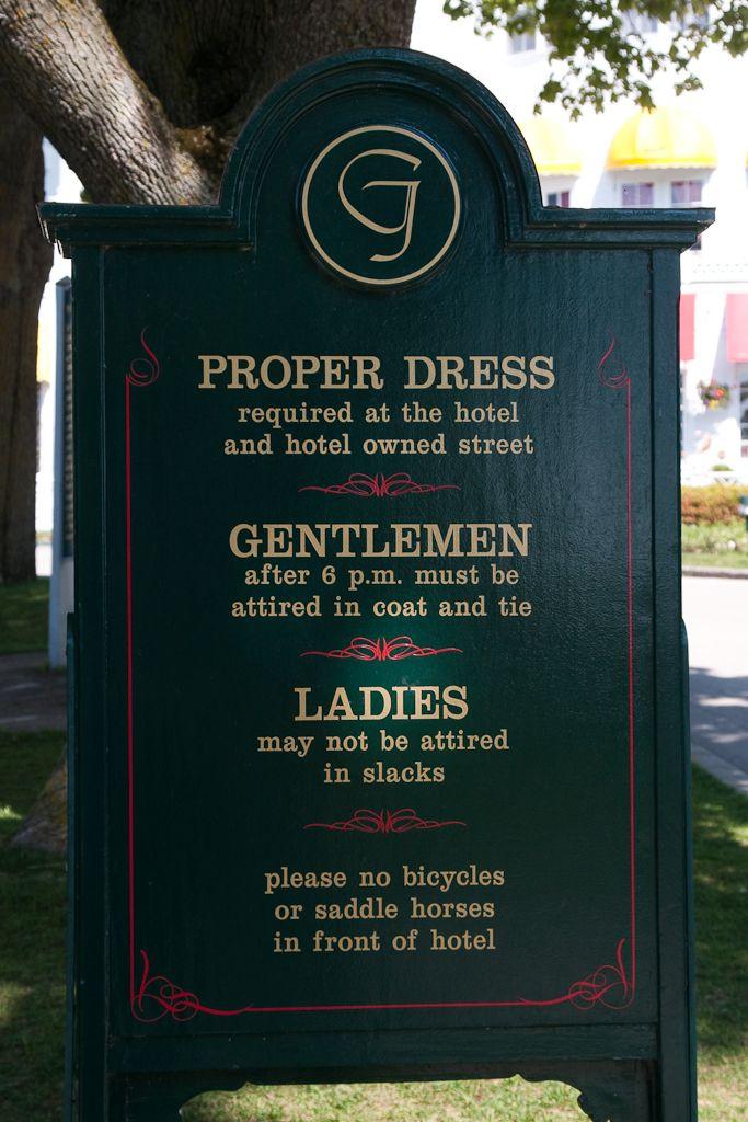 Grand Hotel Dress Code Mackinac Island Michigan