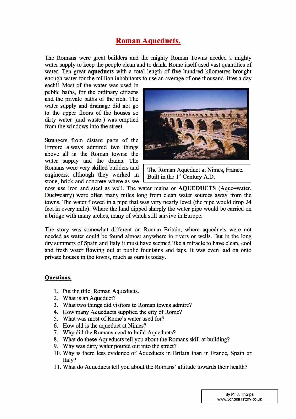 Roman Aqueducts Facts Amp Information