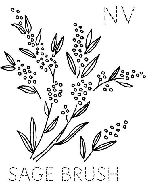 Nevada Sage Brush | Stencils and Templates | Pinterest | Bordado ...
