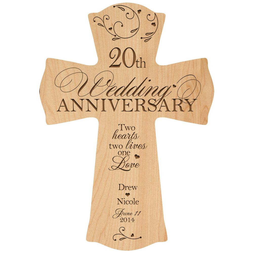 Personalized 20th Wedding Anniversary 20th Anniversary Wall Cross