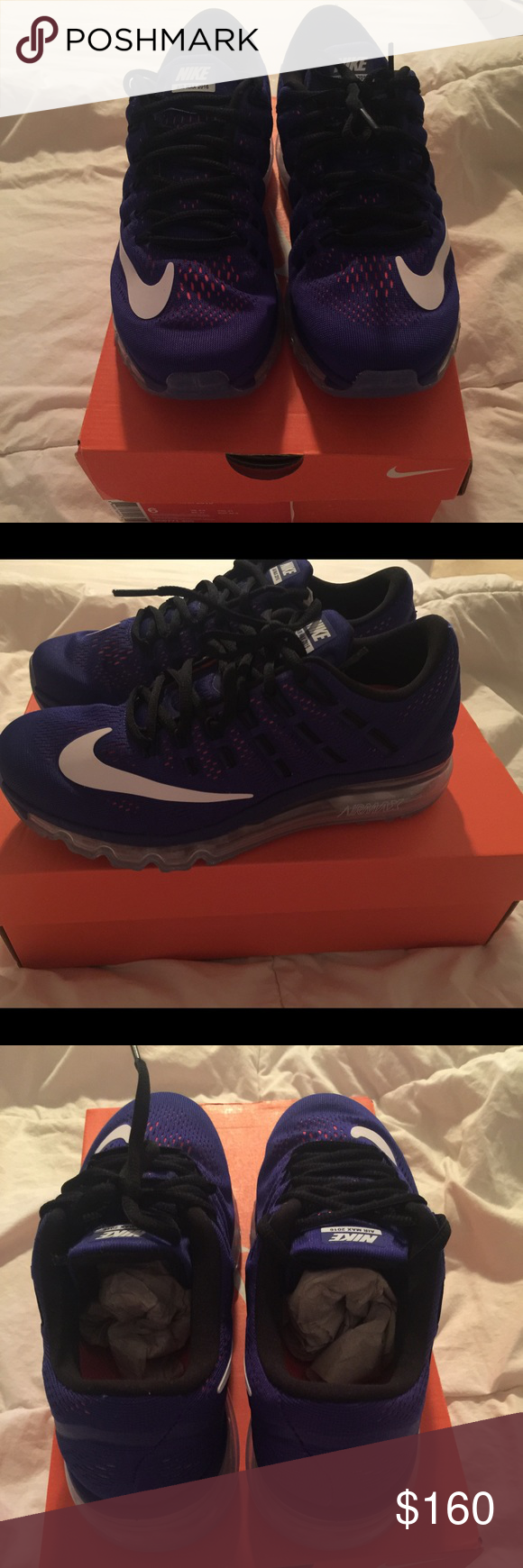 2016 Nike AirMax New w/Tags Men's Size 6 Coverts to Women's Size 8  Purple/Pink Peepholes Clear Bubble Nike Shoes Athletic Shoes
