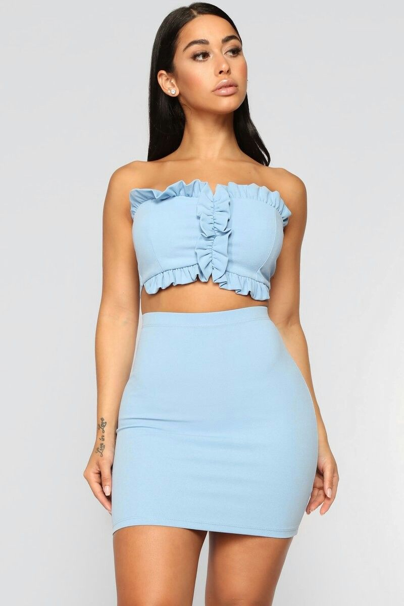 Pin By R Cee On Juveniles Fashion Nova Outfits Skirt And Top Set Fashion