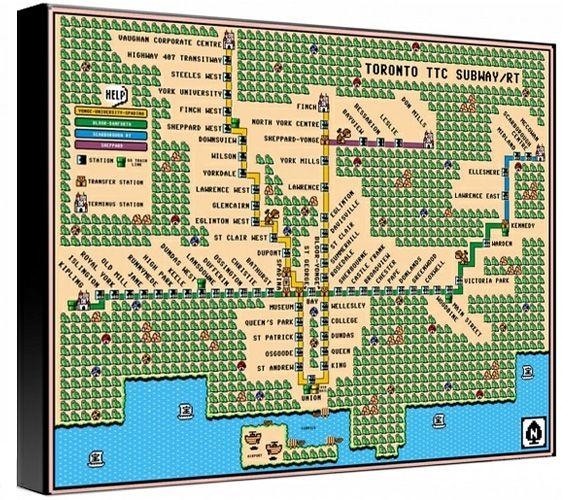 Le plan du mtro de toronto version super mario projet pro advertise here wednesday june 2012 mario meets metro designer dave delisle recreated a map of the toronto subway system in super mario 3 style gumiabroncs Choice Image