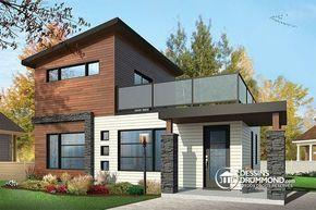 maison moderne rustique