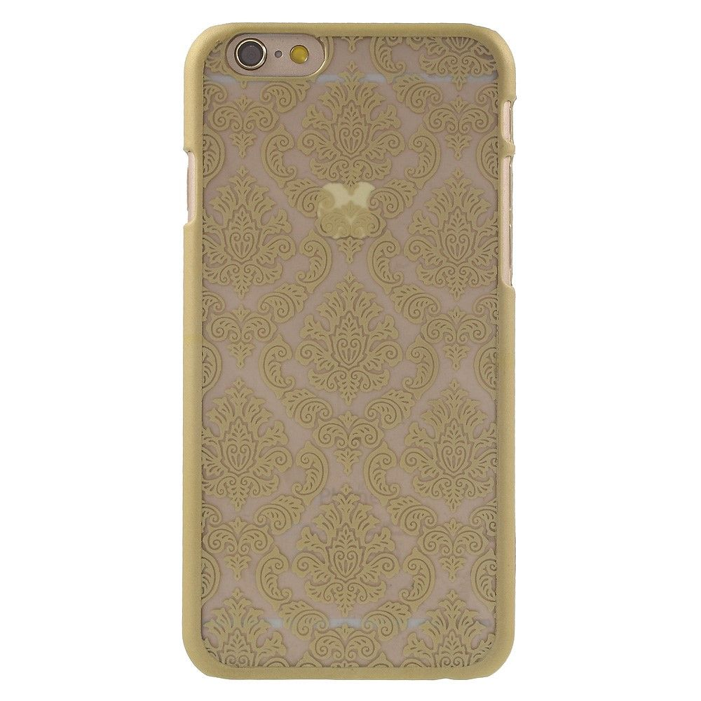Javu - iPhone 6s Hoesje - Harde Back Case Damask Goud | Shop4Hoesjes