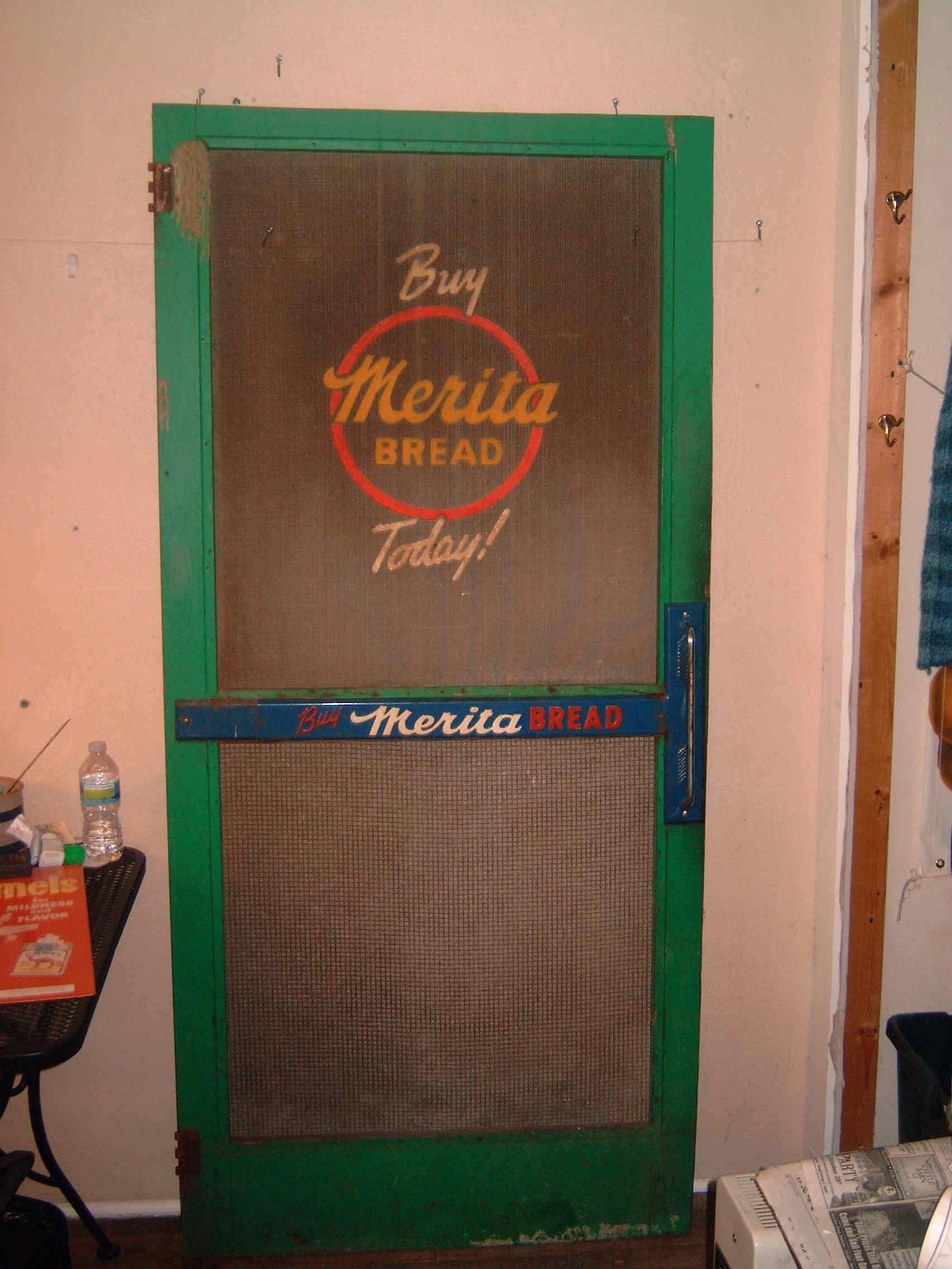 Merita Bread Screen Door from Country Store & Merita Bread Screen Door from Country Store | Antique/Vintage ... pezcame.com