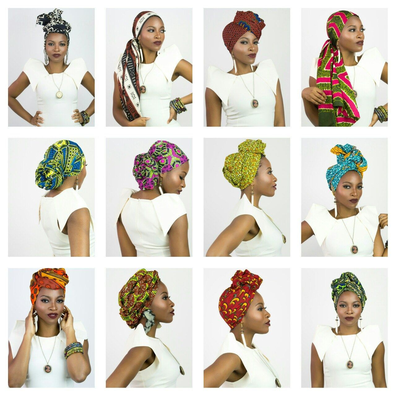 Red African head wrap, Christmas gift for women, G