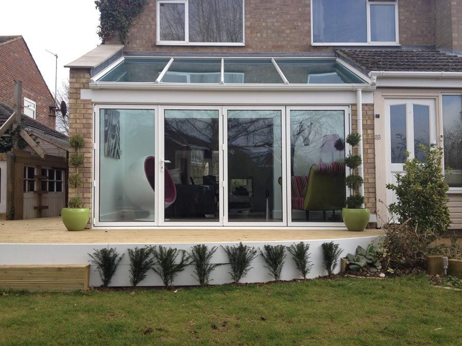 Crendon Conservatories Designed, Built And Finished This Glass Extension  With Bi Folding Doors In Thame, Oxfordshire.