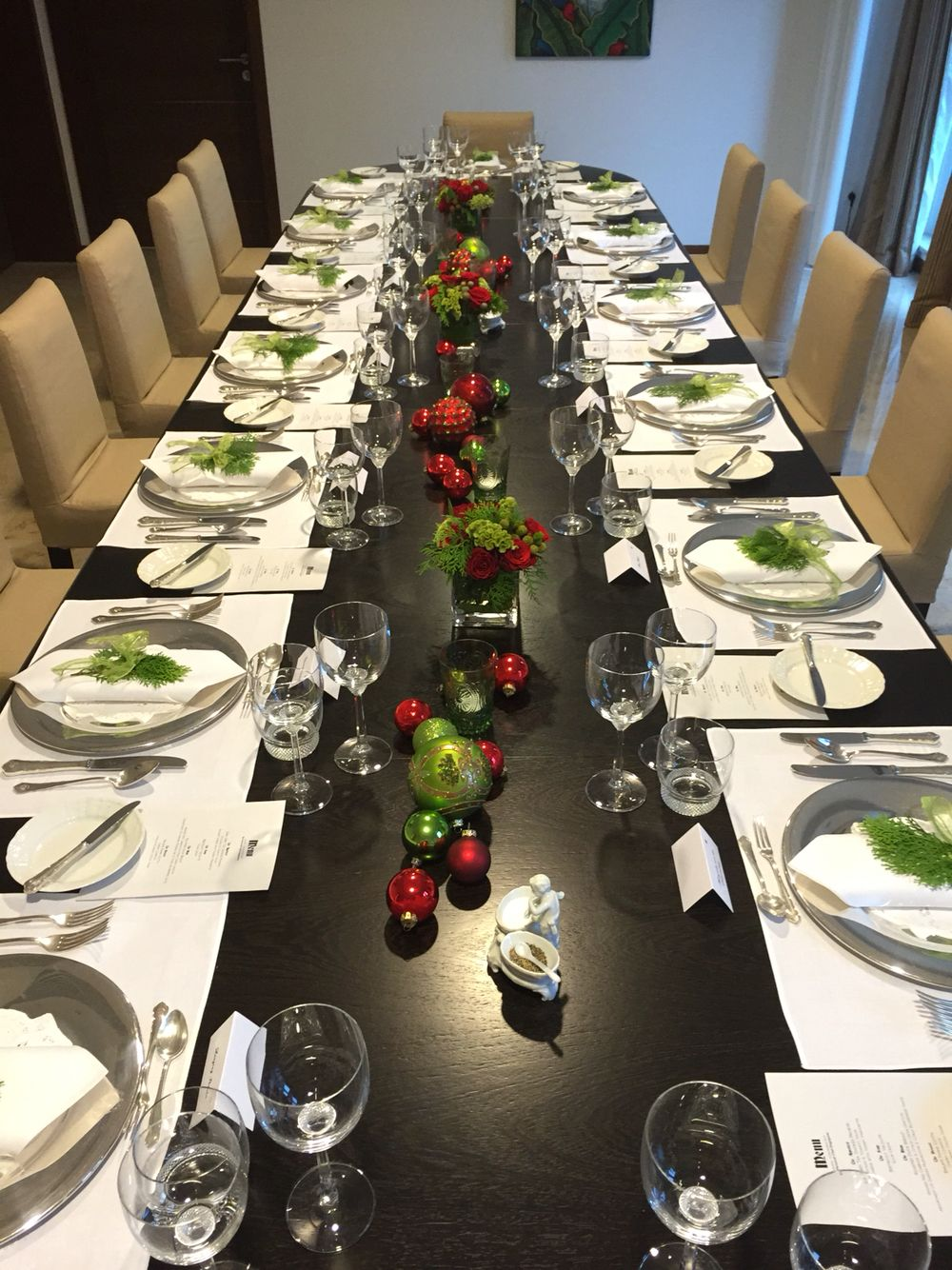 Fine Dining Setup For Christmas Dining Table Decor Fine Dining Table Decorations