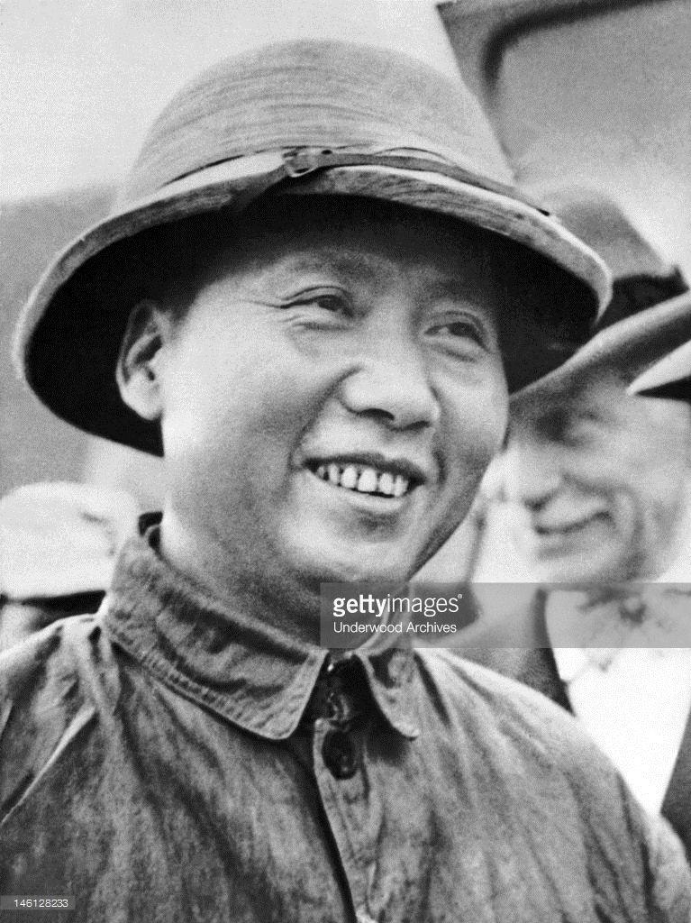Communist faction leader mao tsetung arrived with us