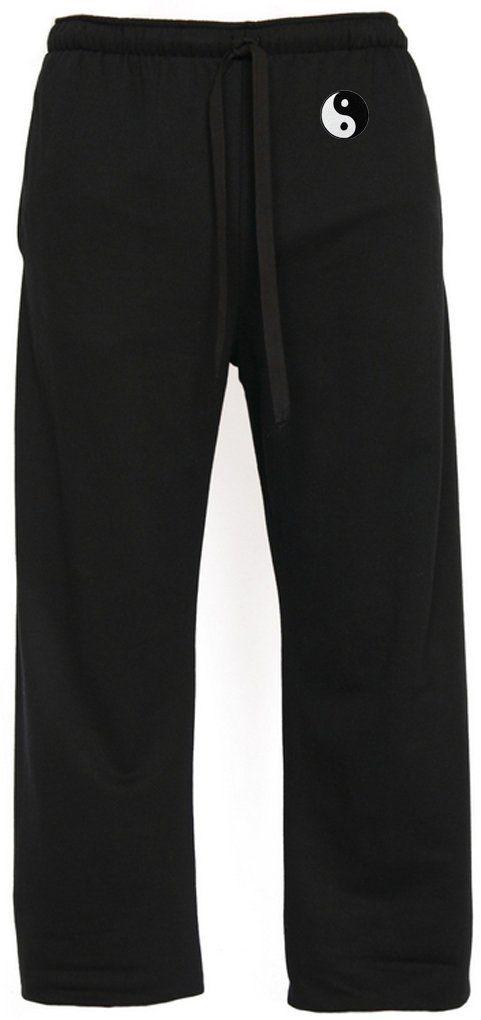 Candyhusky Cotton Blend Fisherman Wrap Pants Yoga Pants Free Size White