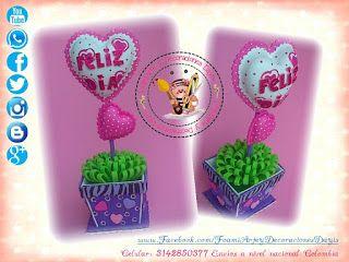 Foamiarte y decoraciones dayis para san valentin en foami - Decoraciones para san valentin ...