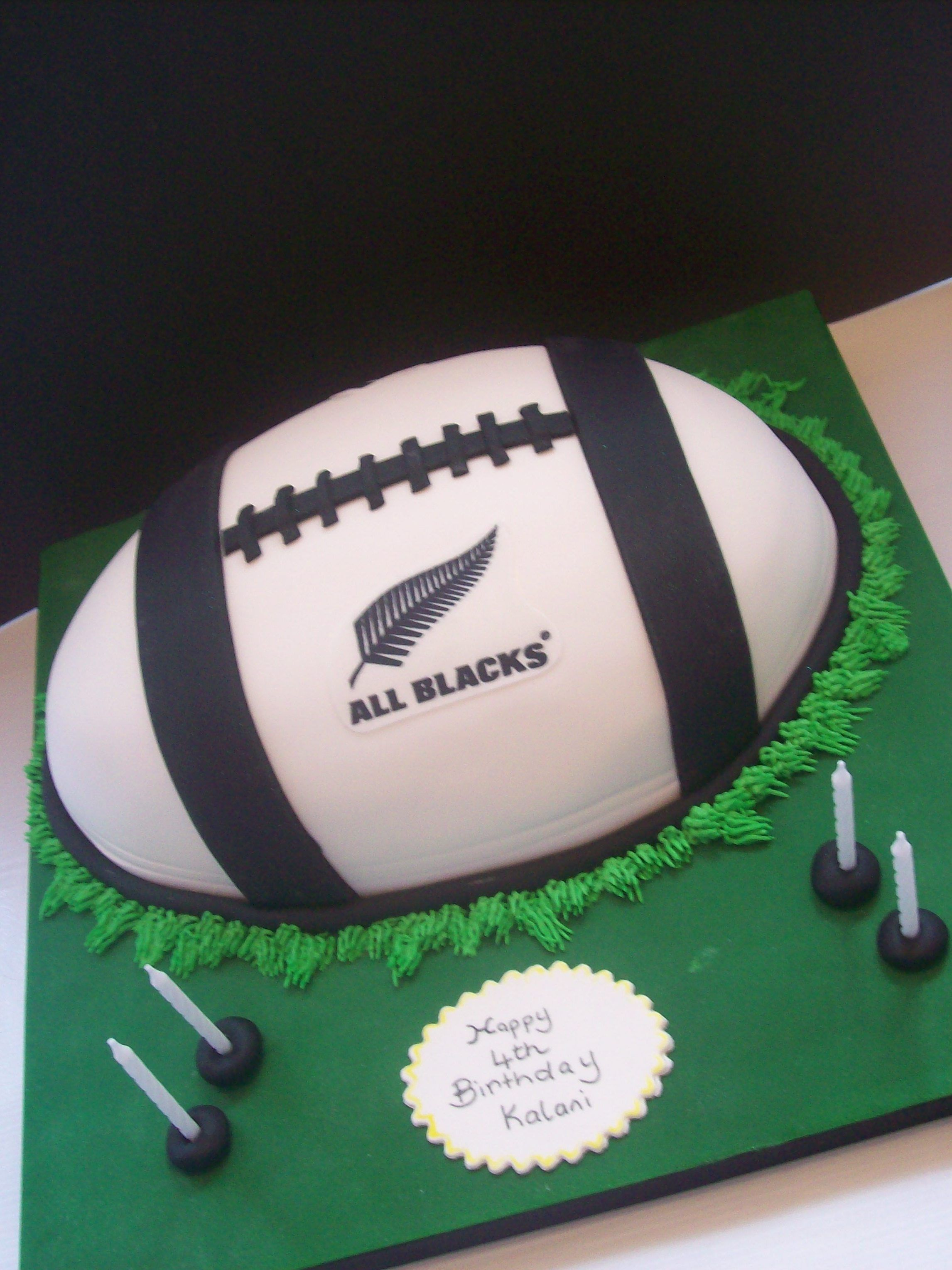 All Black Rugby Ball Cake 199