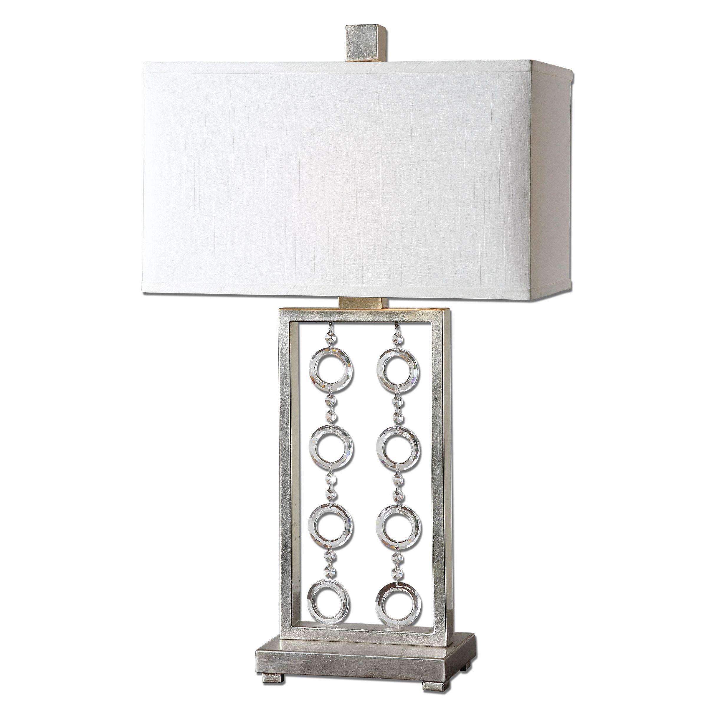Uttermost Arlena 1-light Antique Silver Leaf Table Lamp