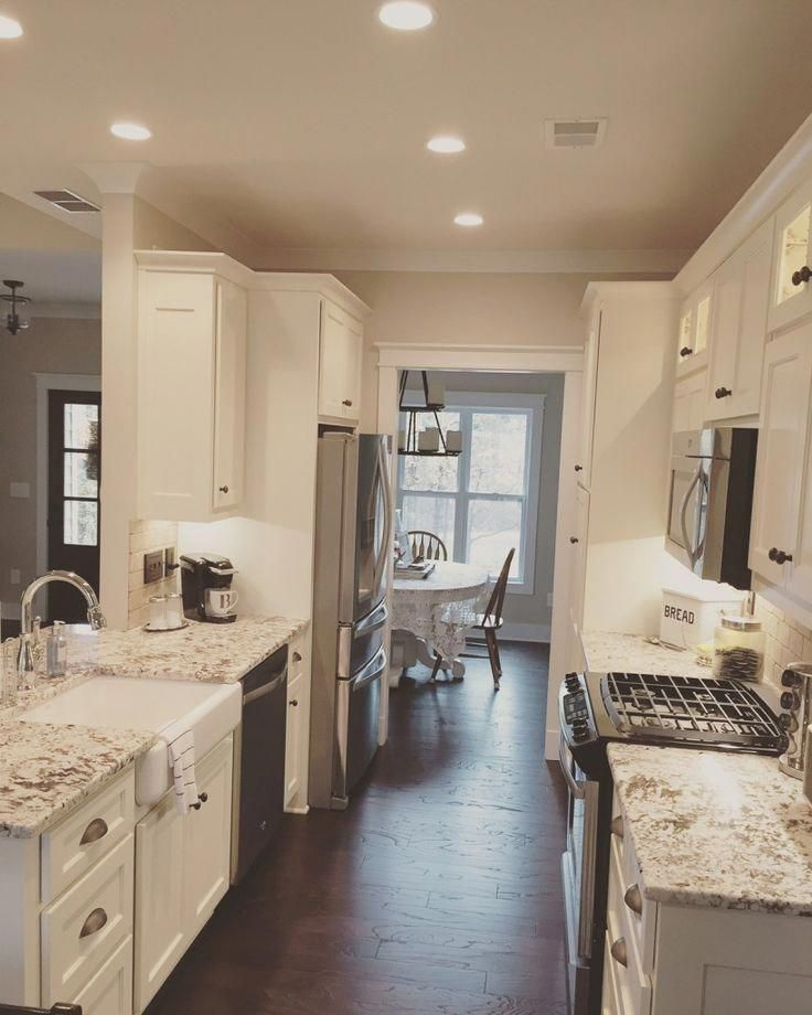 Kitchen layout - Galley kitchen from The Runnymeade #1164 #remodelhome #ikeagalleykitchen