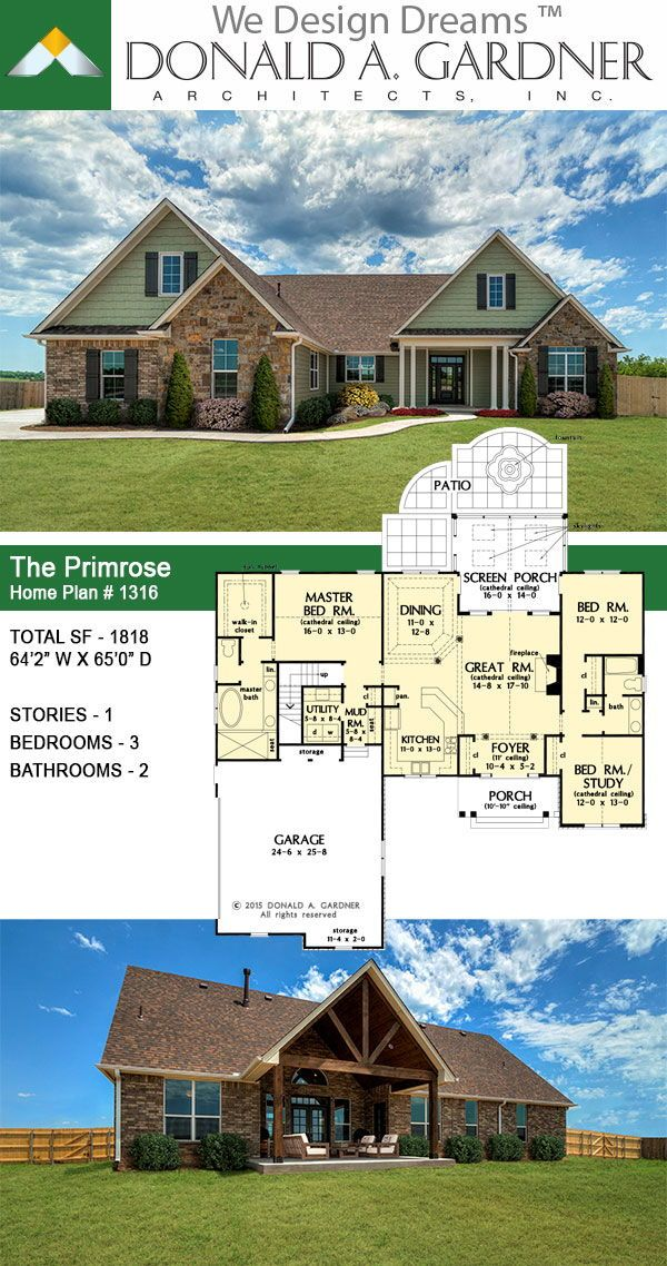 Pin By Kelly Henry On For The Home Rancher House Plans House Blueprints Craftsman House Plans