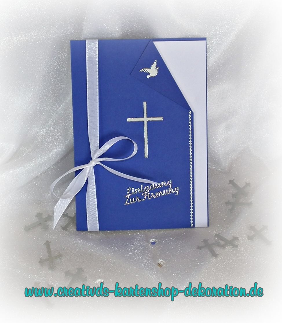 Einladung Danksagung Kommunion, Konfirmation,Firmung, Farbwahl 1011