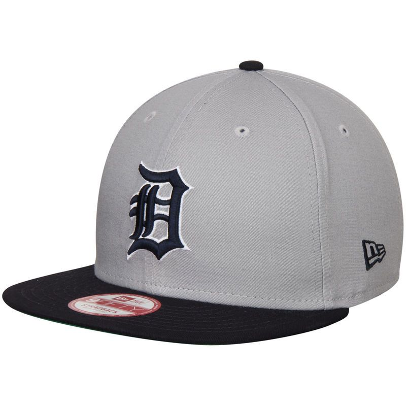 Detroit Tigers New Era 9FIFTY Strapback Adjustable Hat - Gray/Navy