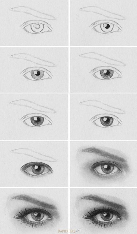 Tutorial how to draw realistic eyes http rapidfireart com 2013 05 08 how to draw eyes