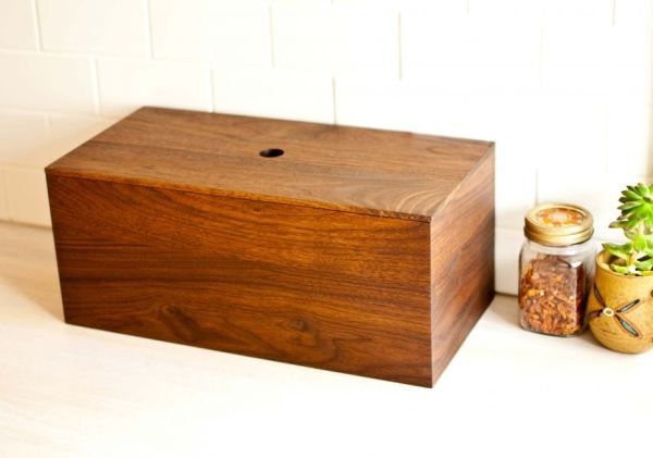 Diy Wood Bread Box Woodworking Projects Diy Wooden Bread Box Woodworking Projects