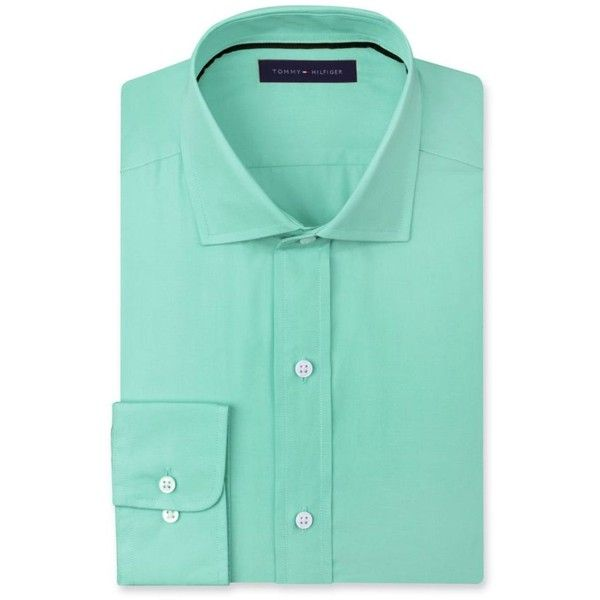 Tommy Hilfiger Mint Classic Fit Dress Shirt ($20) ❤ liked on ...