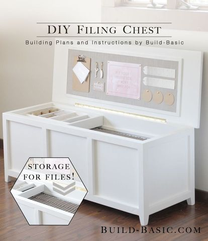 DIY Filing Chest   Our Home Office Is A Small Space, And Our Tall, Boxy  Filing Cabinet Always Made It Feel Extra Crowded. To Create A Solution That  Didnu0027t ... Good Looking