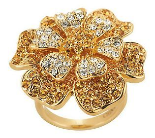 Joan Rivers Belle Fleur Crystal Ring