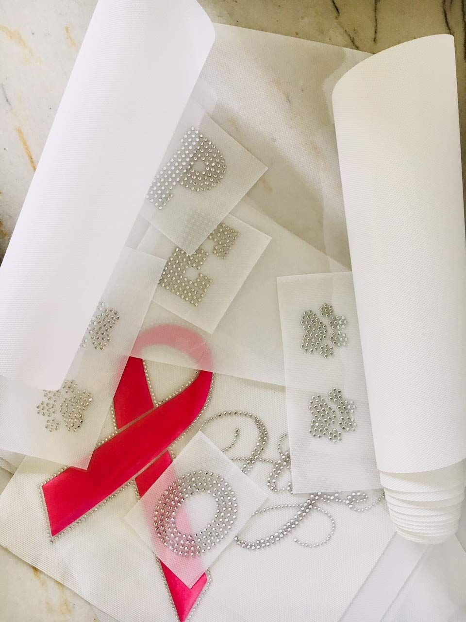 10 Ft X 12 Inch Hot Fix Iron On Rhinestone Sticky Transfer Film Paper Thick Tape Easy To Use In Continuous Roll Wit Star Decals Sewing Crafts Transfer Paper